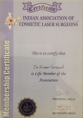 Indian Association of Cosmetic Laser Surgeons, Life Member