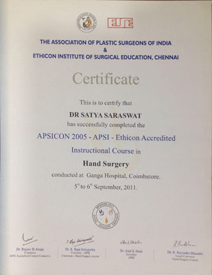 APSICON 2015 - APSI - Ethicon Accredited Instructional Course in Hand Surgery
