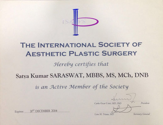 The International Society of Aesthetic Plastic Surgery, 2014