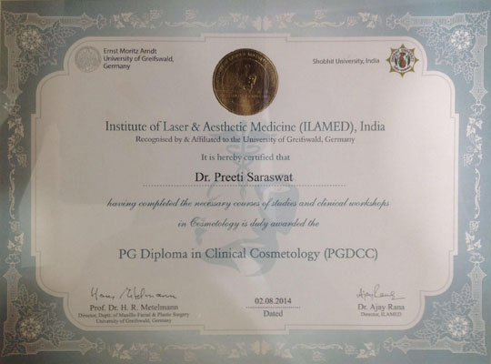 PG Diploma in Clinical Cosmetology, ILAMED