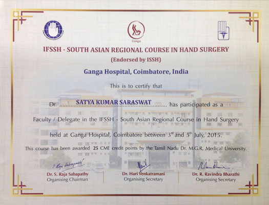 IFSSH 2015, South Asian Regional Course in Hand Surgery