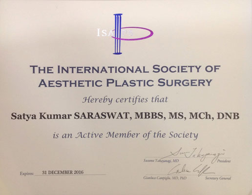 The International Society of Aesthetic Plastic Surgery, 2016