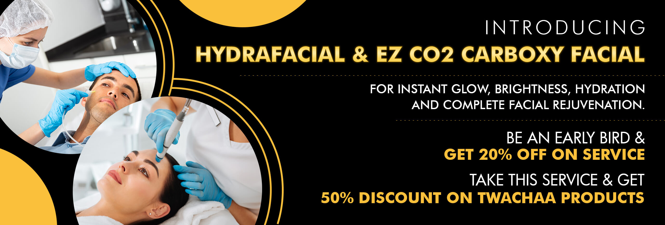 HydraFacial and EZ CO2 Carboxy Facial Offer